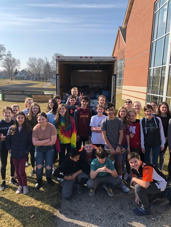 RRMS 7th Grade Food Drive