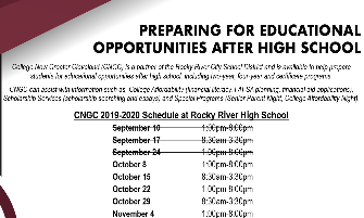 College Now Greater Cleveland to be Onsite at RRHS Four Dates in October