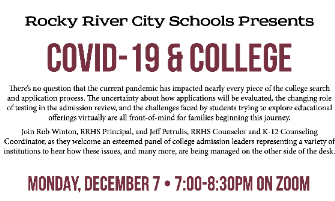 RRCSD Presents a COVID-19 and College Virtual Presentation