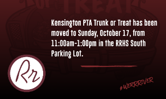 Kensington PTA Trunk or Treat Moved to Sunday (11am-1pm)
