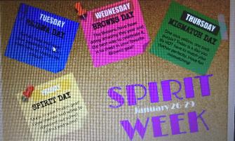 RRMS Spirit Week January 26-29th