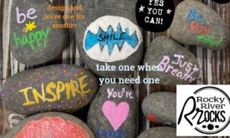 Rocky River Students and Staff Using Rocks to Spread Kindness