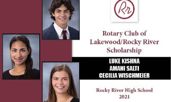Trio of RRHS Seniors Awarded Rotary Scholarship