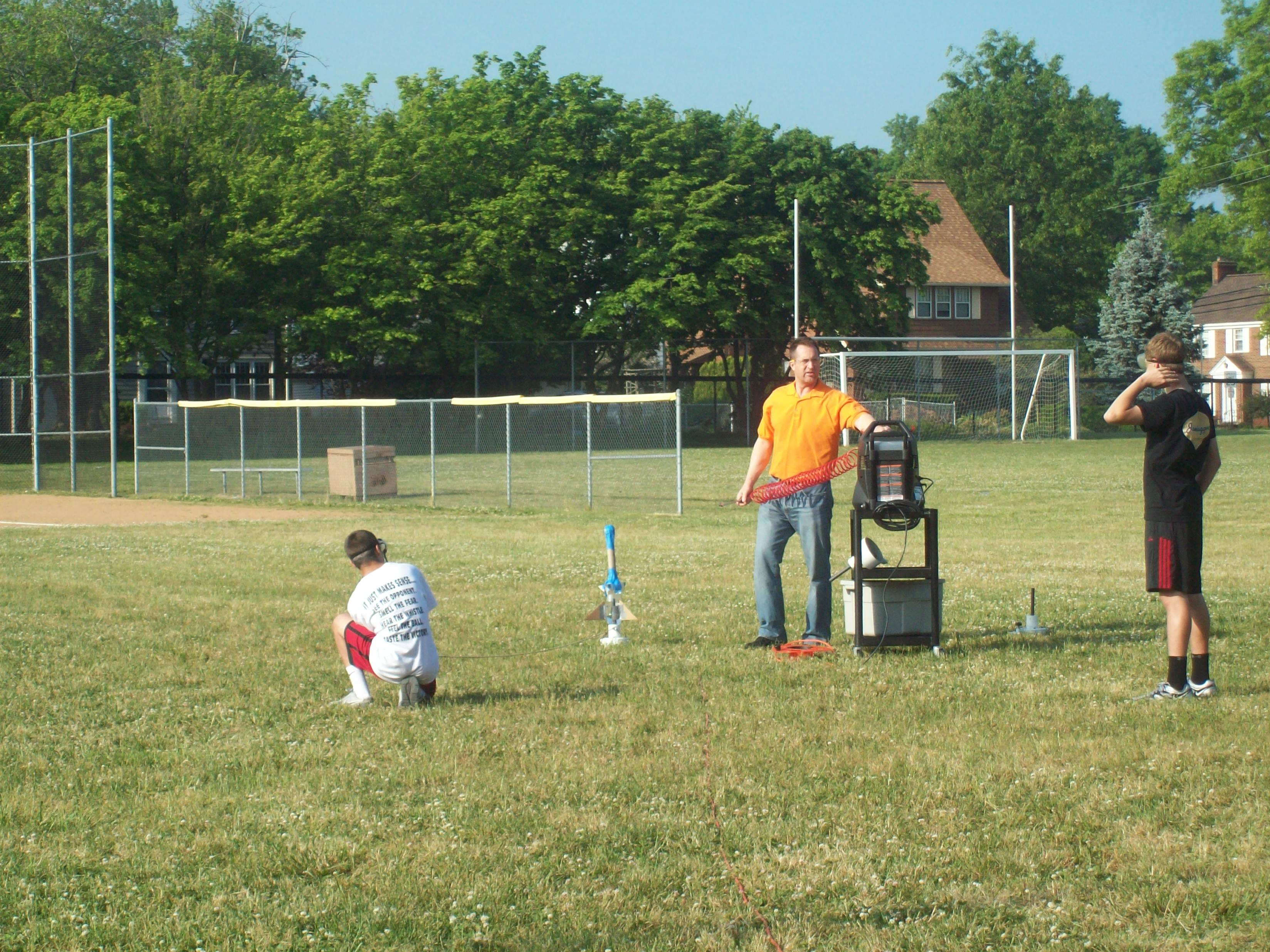 PHOTO FROM WATER BOTTLE ROCKETRY