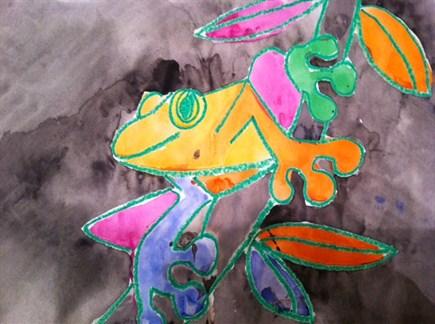Tree Frog Watercolor Paintings