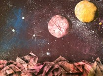 Mixed Media Space Theme