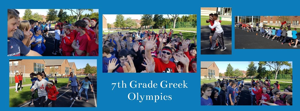 Students participate in activities regarding the study of the Greek Olymopics