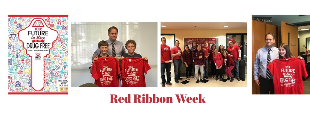 students and staff during red ribbon week