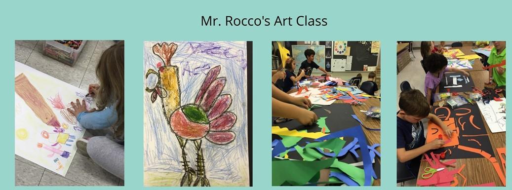 Art work from Mr. Rocco's Art Class