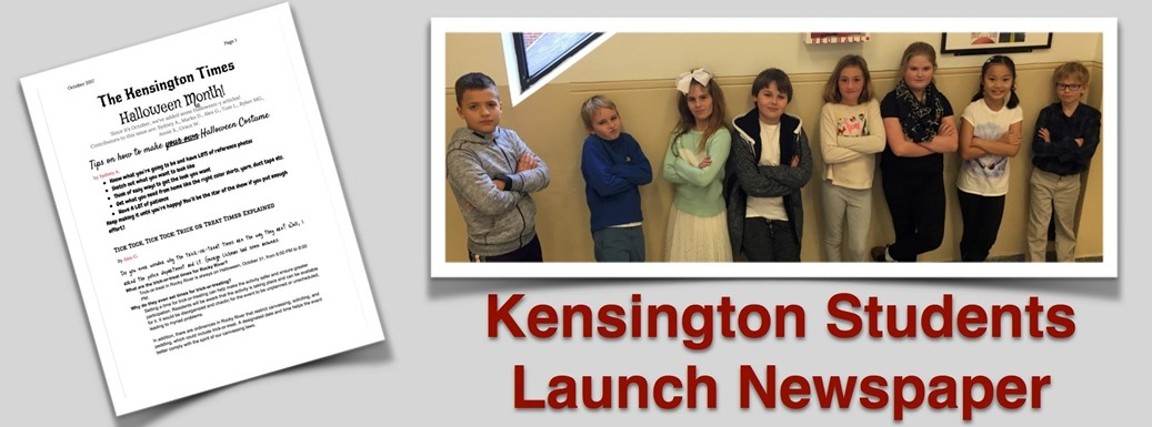 The staff of the Kensington Times student newspaper.