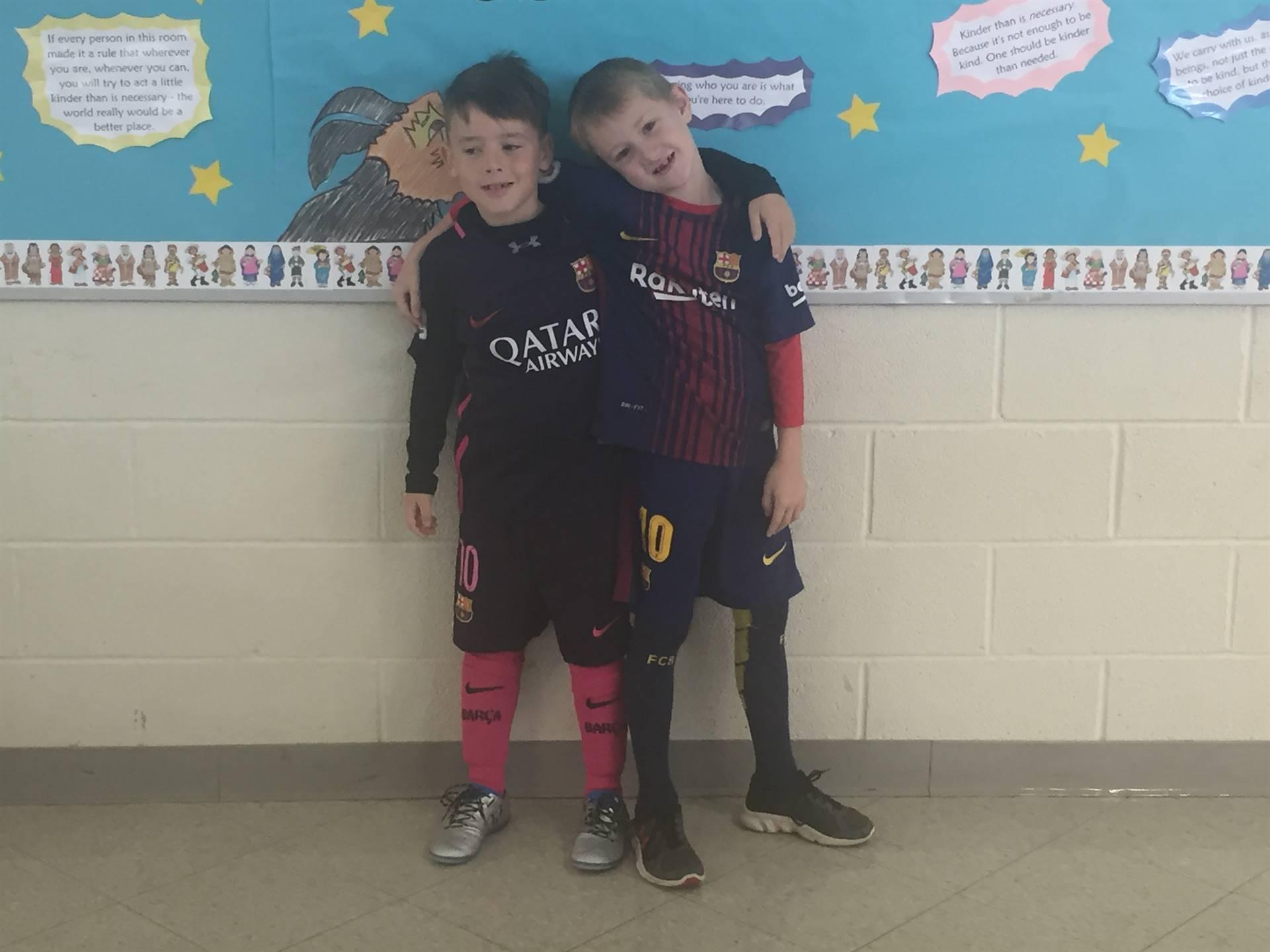 Halloween fun soccer players