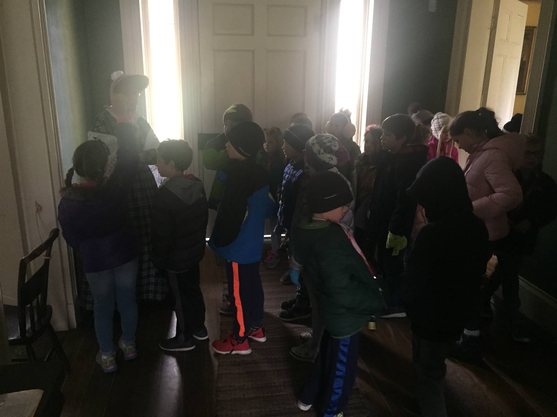 Students in the Goldsmith House at Hale Farm