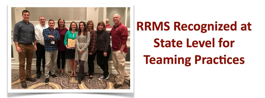 Rocky River Middle School Recognized at State Level for Teaming Practices