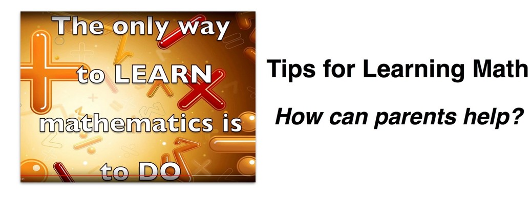 Tips for learning math - how can parents help?