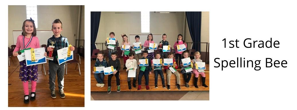 1st Grade Spelling Bee Students
