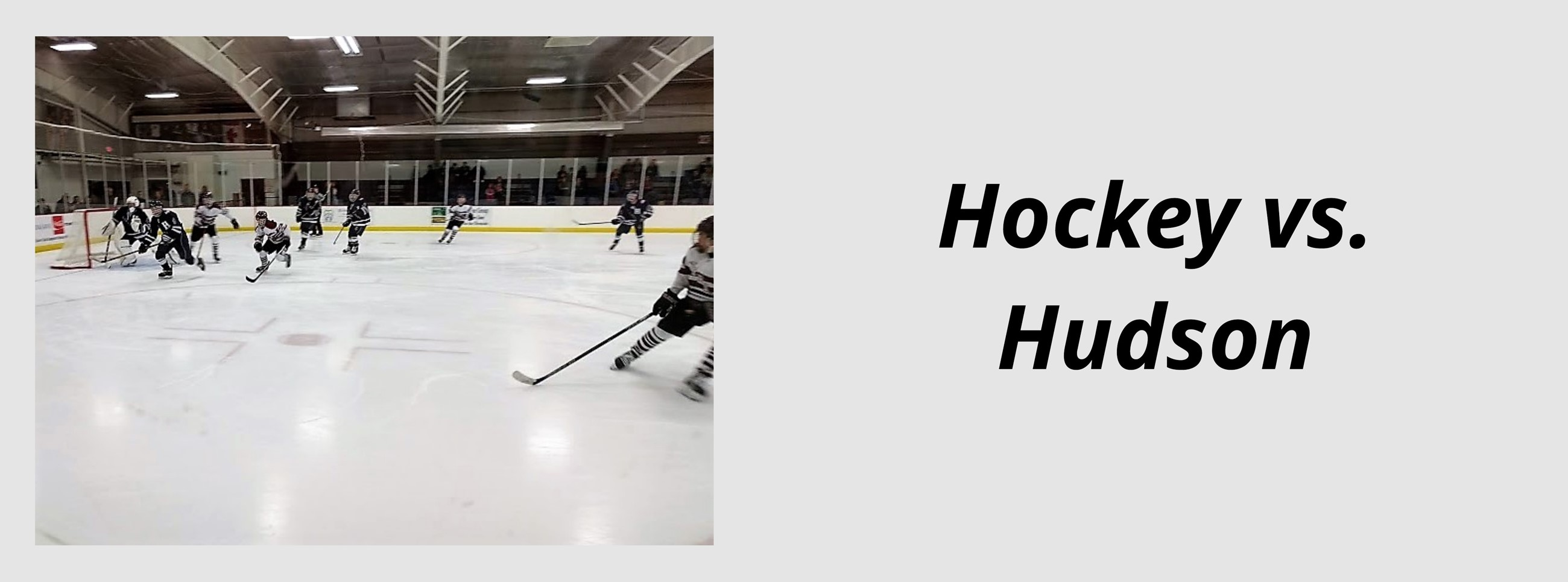 Boys hockey team playing on the ice