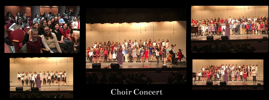 students performing in the choir concert