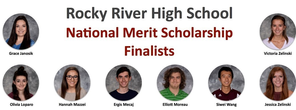 Eight members of Rocky River High School's Class of 2017 who were recognized as Semifinalists in the prestigious National Merit Competition last fall have advanced to Finalist status.