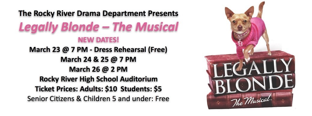 Legally Blonde Revised Dates