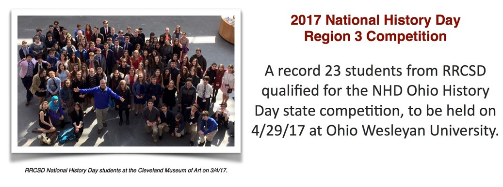 RRCSD has 23 National History Day Region 3 winners advance to state.