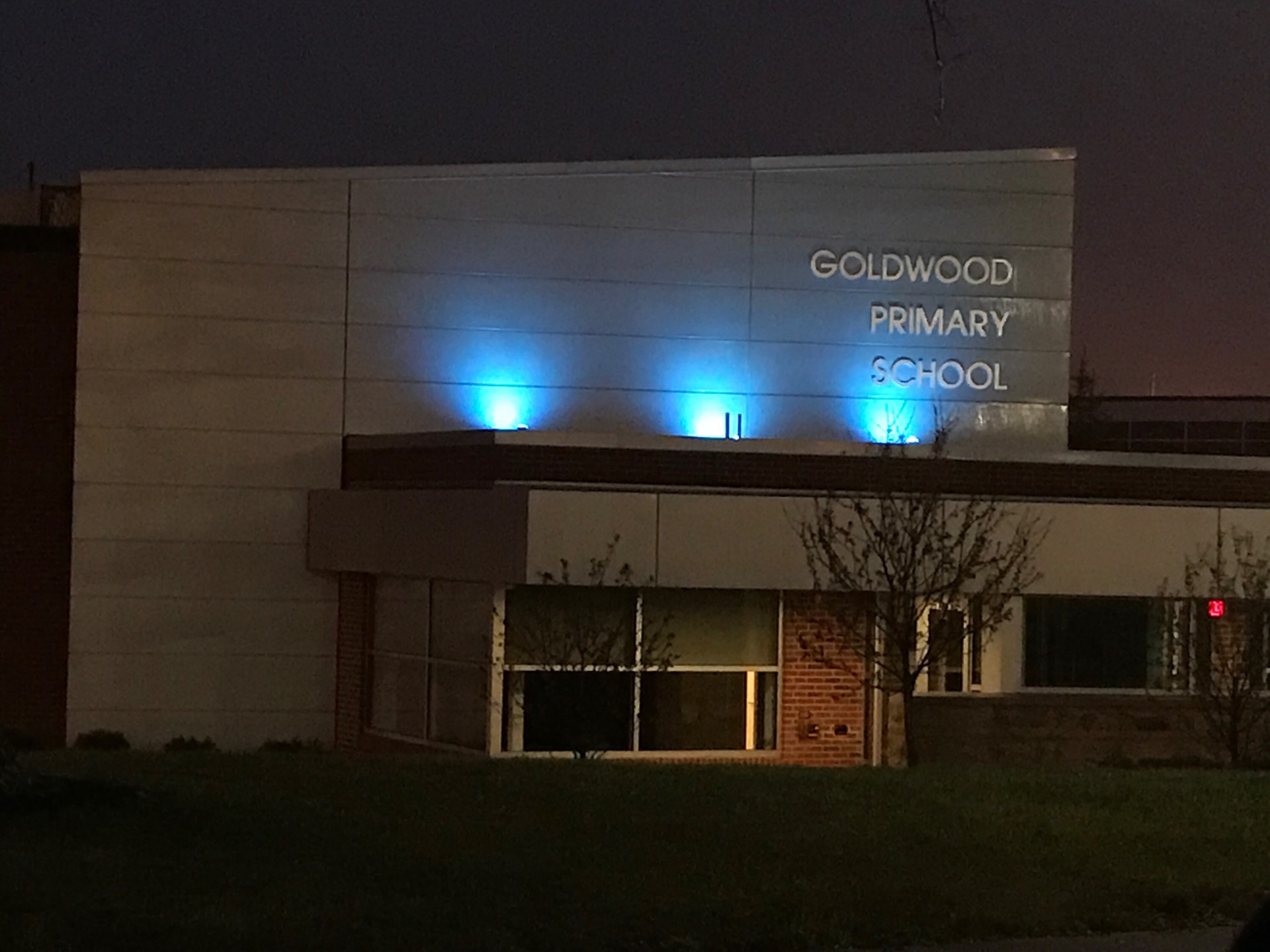 Goldwood Lights it Up Blue for Autism Awareness