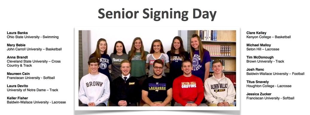 RRHS Senior Signing Day