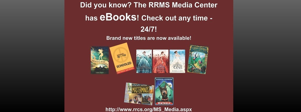 ebooks are available in the media center