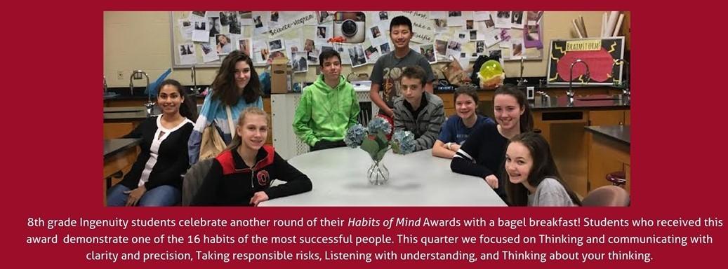 8th grade award students
