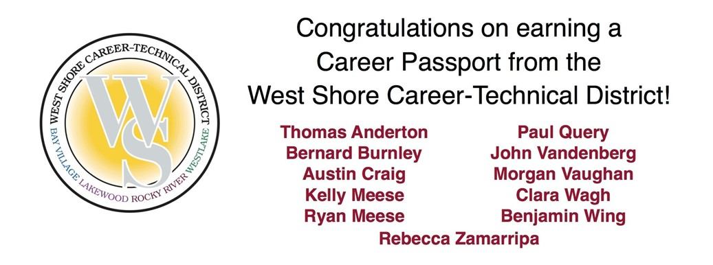 Career Passport from the West Shore Career-Technical District