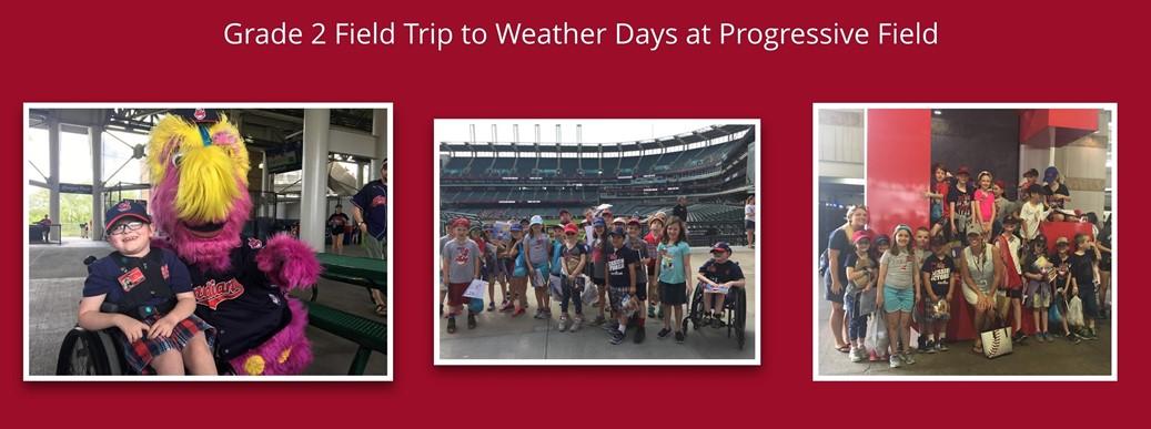 Grade 2 field trip to Weather Days at Progressive Field