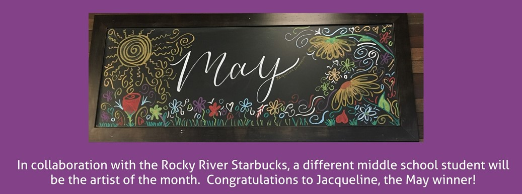 May artist of the month chalk drawing