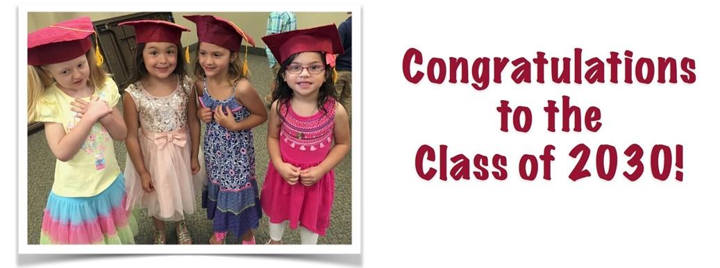 Preschool Class of 2030 Graduation