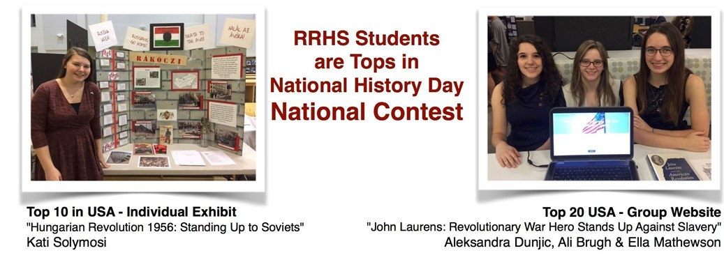 RRHS Students are Tops in National History Day  National Contest