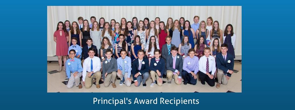 Principal's Award Students honored at a dinner