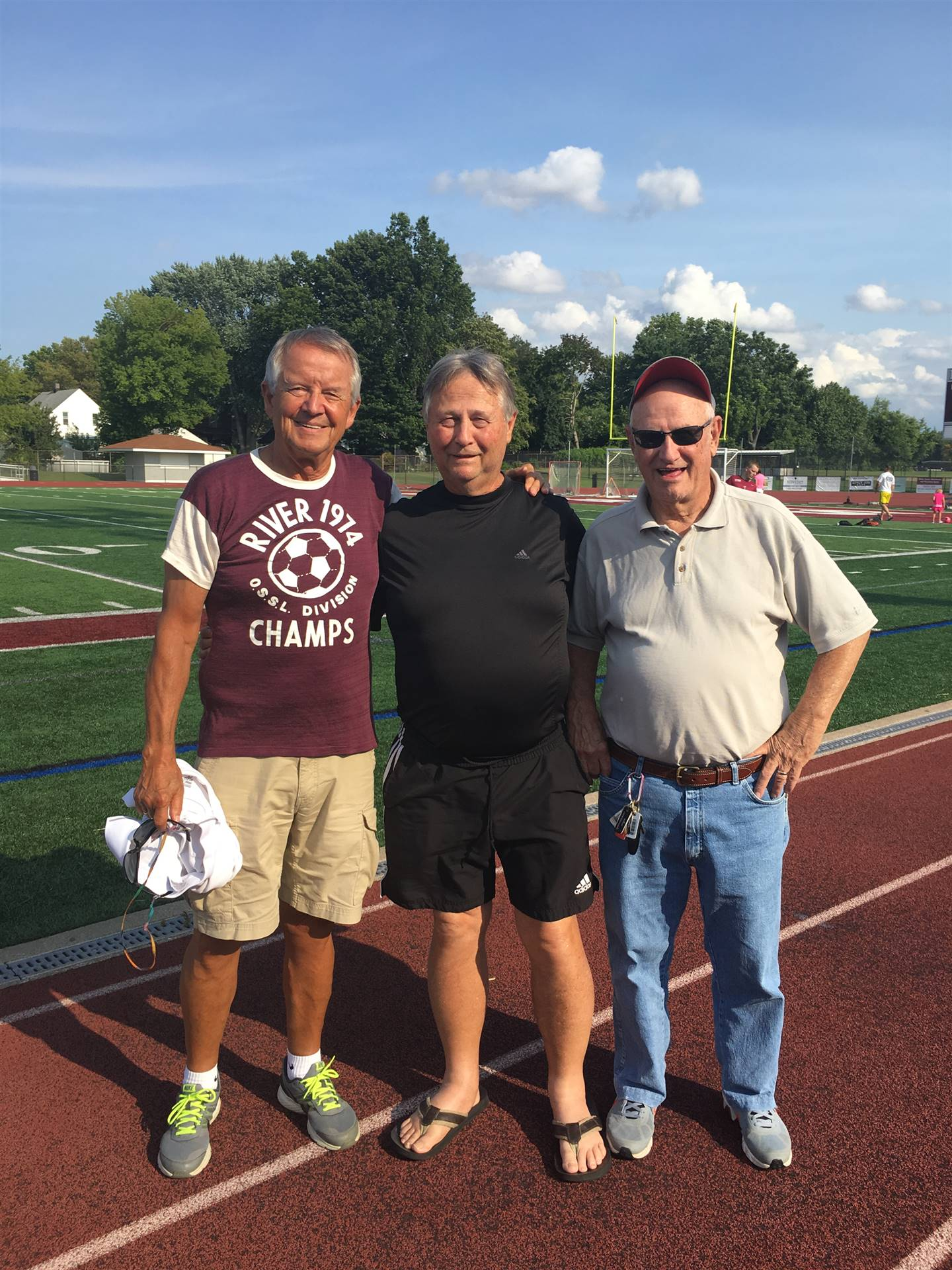 Former Head Coach Pat Gillespie, along with two of his assistants, Les Szabo and Larry Shank.