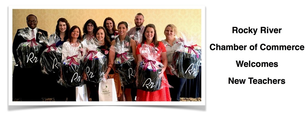 New RRCSD teachers are present gift bags by RR Chamber of Commerce