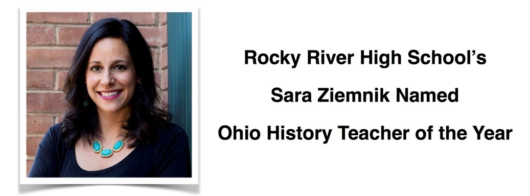 Sara Ziemnik, Ohio History Teacher of the Year