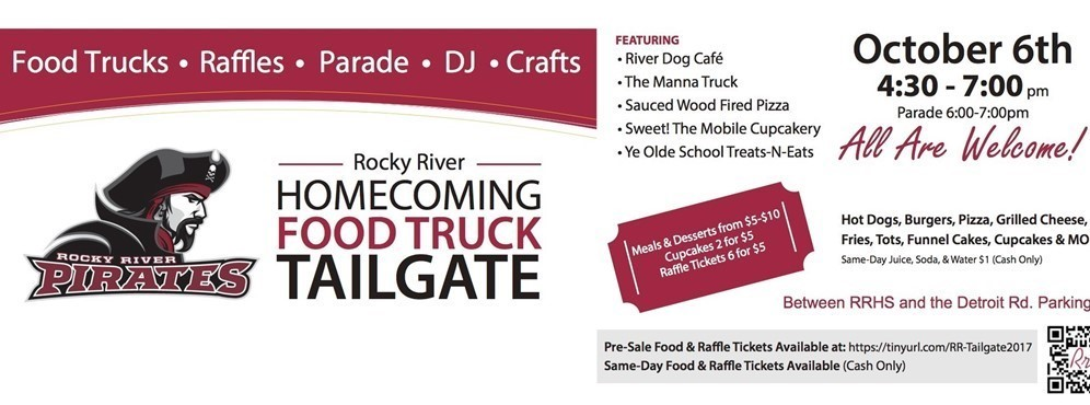 Homecoming tailgate information