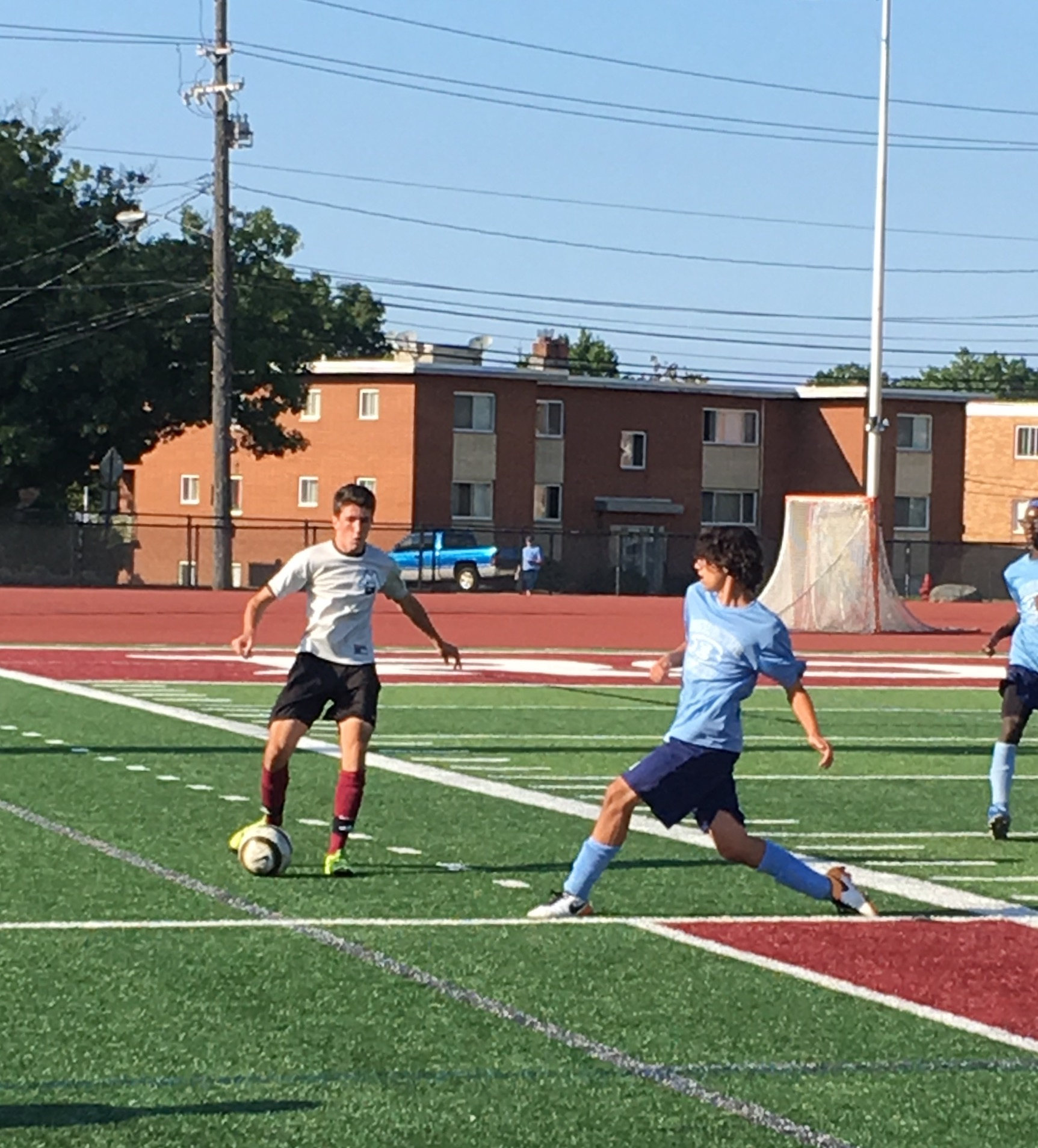 John Ruebsteck looks to pass during the Benedictine scrimmage.