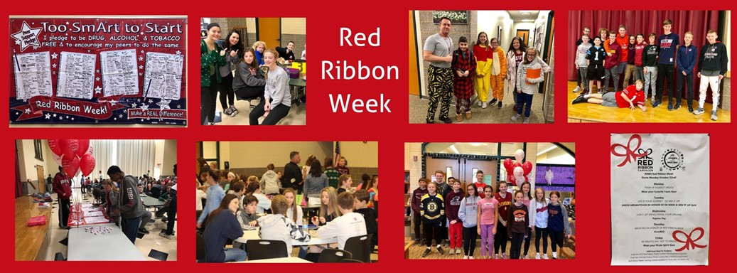 students during red ribbon week