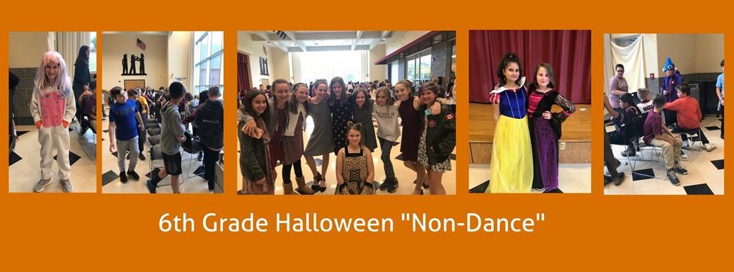 students attend a halloween dance