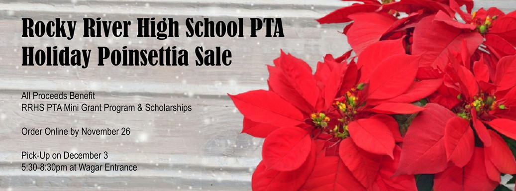 RRHS Poinsetta Holiday Sale