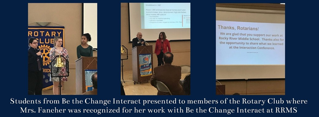 Be the change rotary meeting