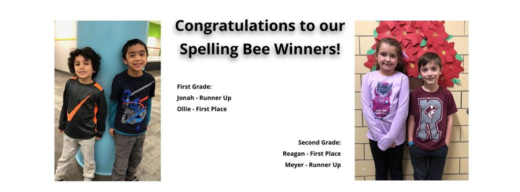 First and Second Grade Spelling Bee Winners