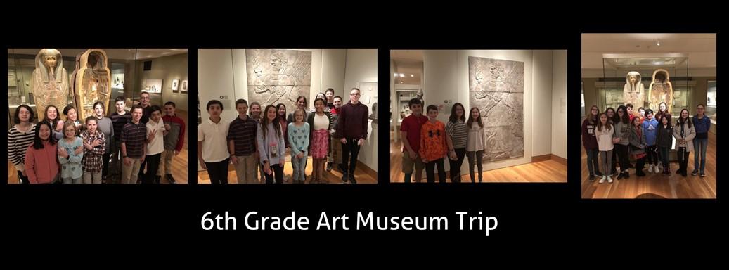 students visit art museum