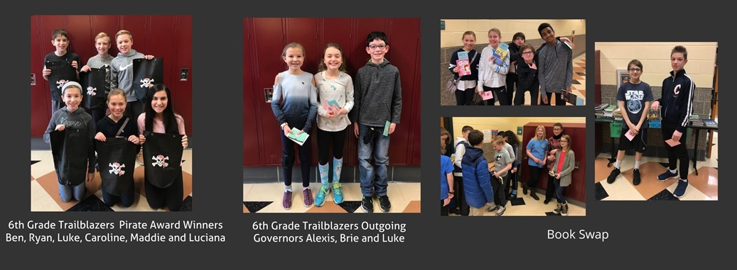 6th grade award winners and book swap