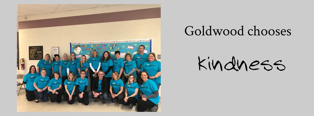 Picture of Goldwood Staff with their kindness shirts