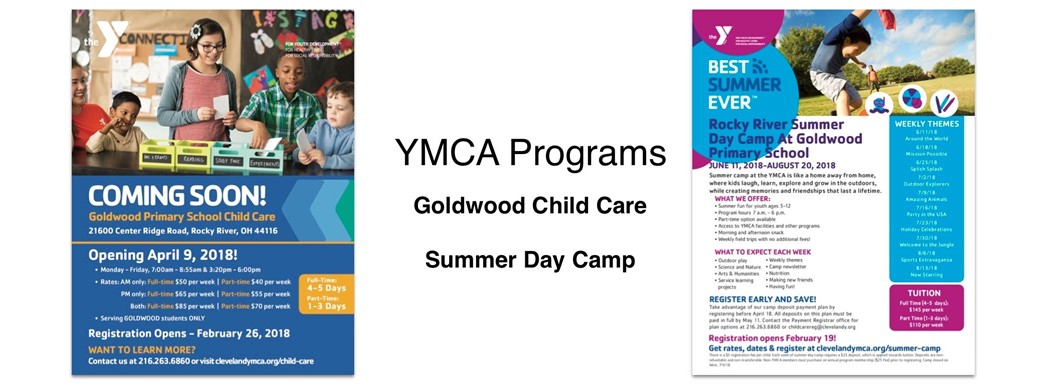 YMCA Programs  Goldwood Child Care  Summer Day Camp
