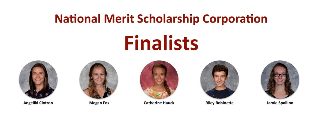 Head shot of the four National Merit Finalists