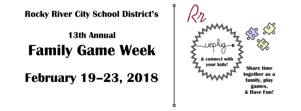 Family Game Week info slide